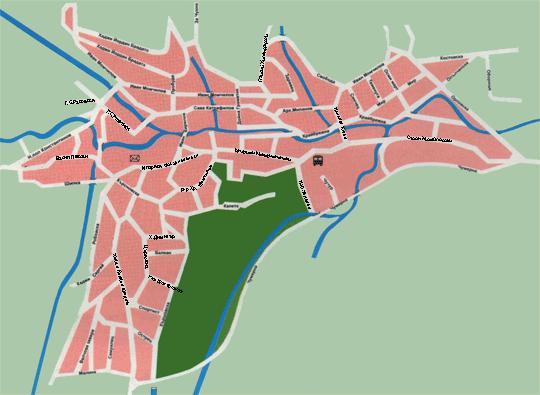 Карти - Карта на града: http://maps.elena.bg/town.htm